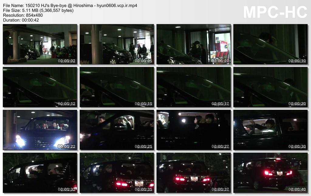 [HollisHyun Fancam] Kim Hyun Joong Leaving Hiroshima Concert Venue  [15.02.10]