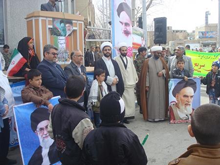 حضور حماسي در راهپيمايي 22 بهمن در شهر قهدریجان
