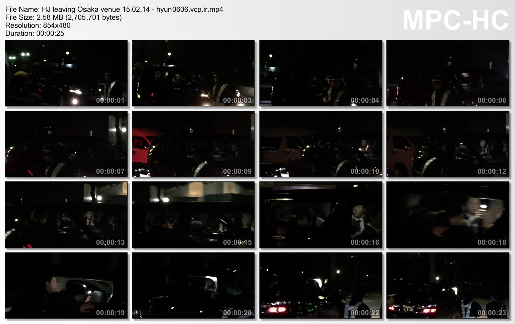 [illu blue Fancam] Kim Hyun Joong Japan - Leaving After GEMINI in Osaka [15.02.14]