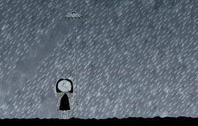 عکس مفهومی چتر و باران
