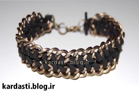 دستبند زیبا طرح طناب پیچ
