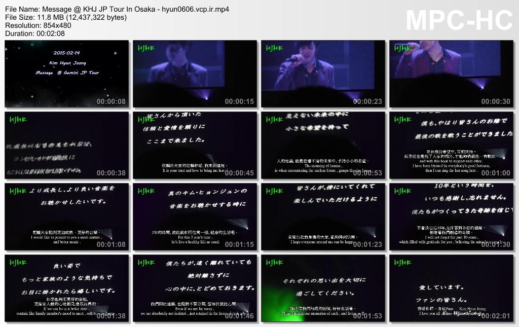 [Fancams] KHJ Gemini JP Tour In Osaka - The Story Of Enlistment [2015.02.14]
