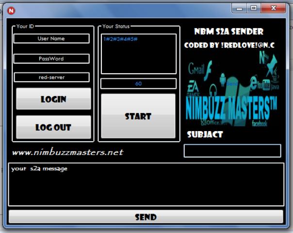 NimbuzzMasters  s2a sender anti block  Nbm_s2a