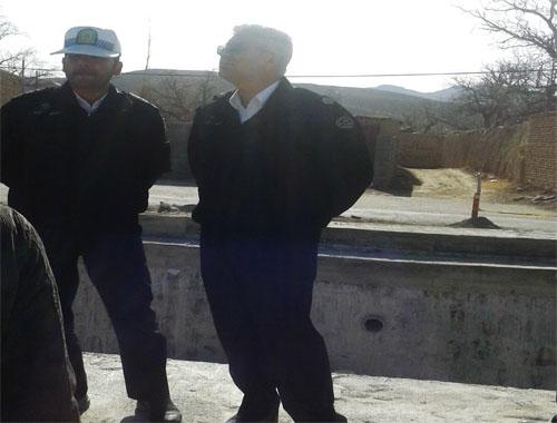 بازدید رئیس پلیس راهور شهرستان دامغان ازشهر دیباج+تصاویر