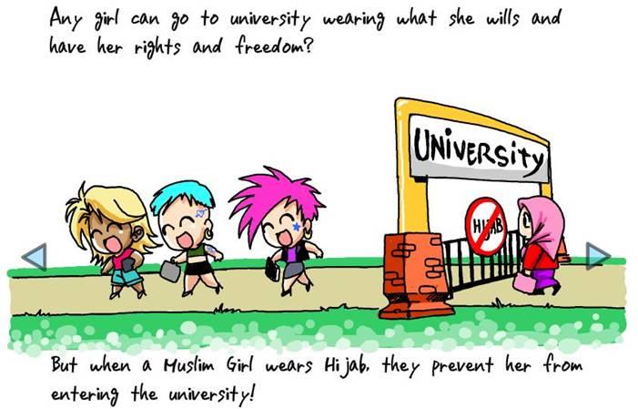 کاریکاتور انگلیسی به نفع مسلمانان