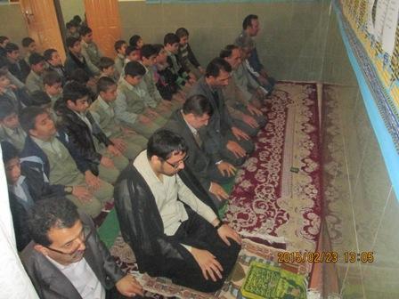 کاشان نماز جماعت دبستان آیت الله کاشانی کاشان
