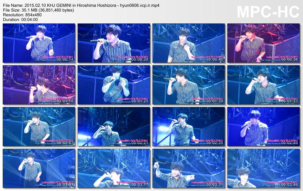 [TWPeas501 Fancam] Kim Hyun Joong 2015 Gemini in Hiroshima [2015.02.10]