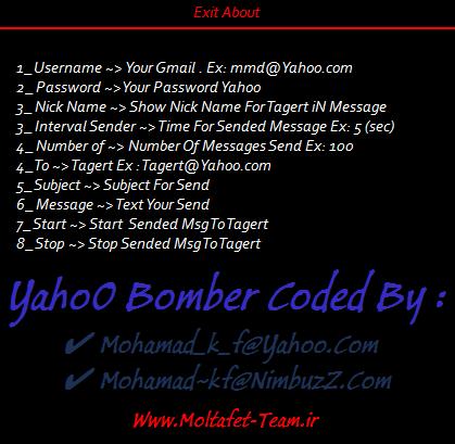 Yahoo Bomber (flooder) Soft + Source Code C# By Moltafet Team Bmbr2