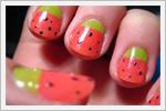 دیزاین ناخن با طرح میوه