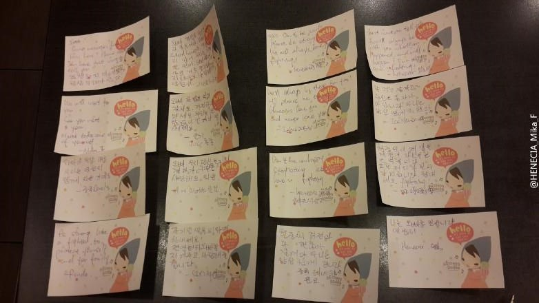 Fans Left Support Messages For HJ At Jaksal Chicken