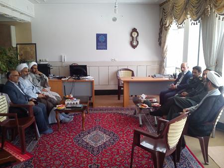دیدار مسئولین شهرستان فلاورجان از امام جمعه قهدریجان به مناسبت روز جانباز