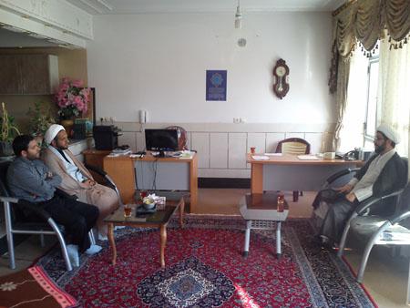 دیدار رئیس اداره تبلیغات اسلامی فلاورجان با امام جمعه قهدریجان