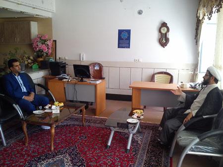 دایدار رئیس دادگستری فلاورجان با امام جمعه قهدریجان