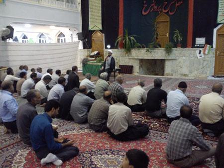 اقامه نماز و سخنرانی امام جمعه قهدریجان در مسجد بلال