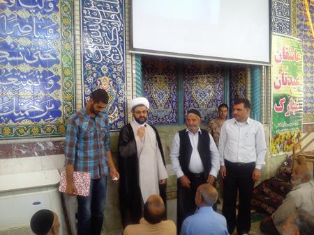 تجلیل از آقای ابراهیم فانی در نماز جمعه