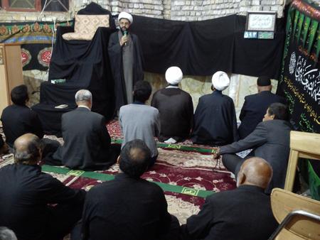 نماز مغرب و عشا و ایراد سخنرانی در مسجد چهارده معصوم