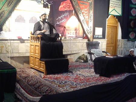 سخنرانی حجت الاسلام هاشمی امام جمعه قهدریجان در مسجد بلال