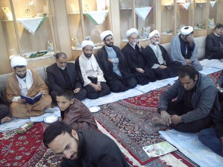 حضور امام جمعه قهدریجان در مراسم شهید مدافع حرم موسی جمشیدیان