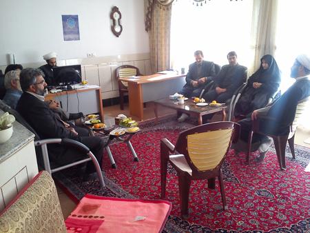 دیدار اعضای شورای اسلامی و شهردار جدید از حجت الاسلام والمسلمین هاشمی