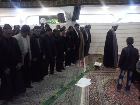 اقامه نماز و ایراد سخنرانی در مسجد بلال قهدریجان