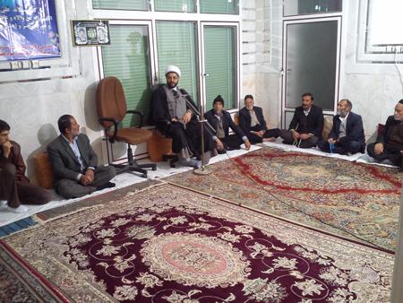 حضور و سخنرانی امام جمعه قهدریجان در مراسم سوگواری اباعبد الله الحسین (ع)