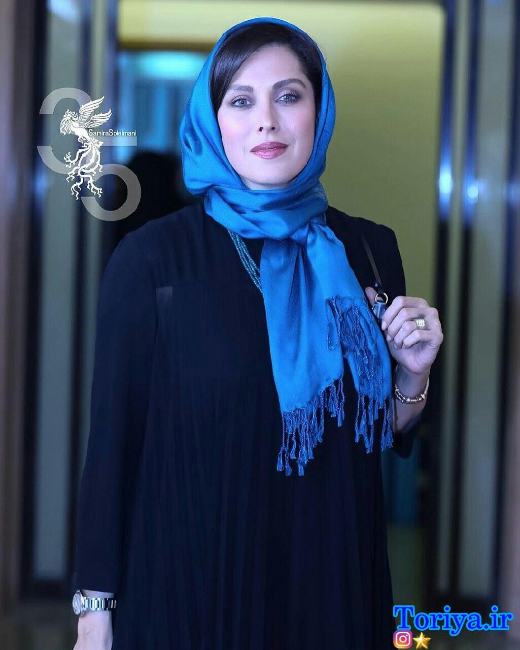عکس مهتاب کرامتی در افتتاحیه سی و پنجمین جشنواره فیلم فجر_فجر 35