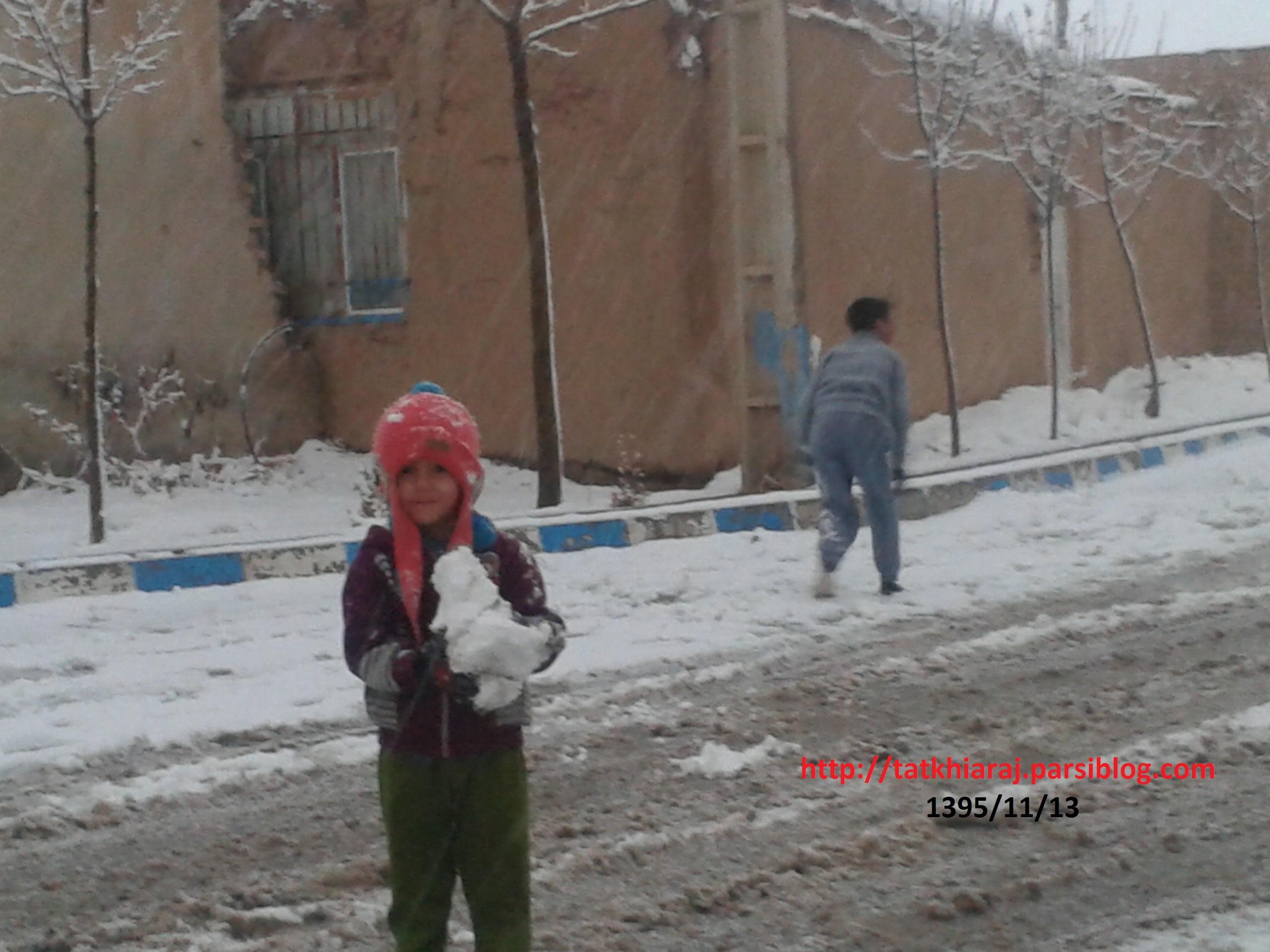 طبیعت برفی روستای خیارج امروز 13 بهمن 1395