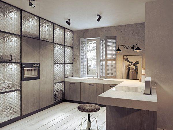 آشپزخانه به سبک صنعتی7