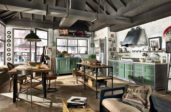 آشپزخانه به سبک صنعتی10