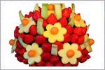 میوه آرایی به شکل سبد گل