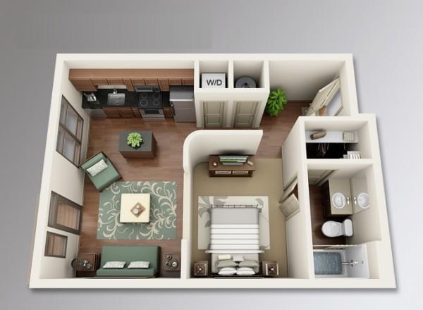 پلان و چیدمان منزل کوچک1