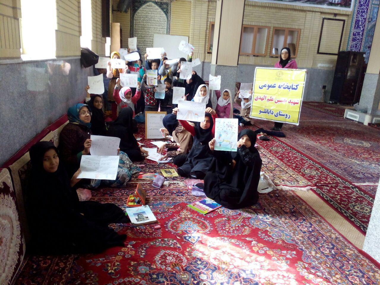 ایستگاه نقاشی در کتابخانه های عمومی شهرستان خدابنده