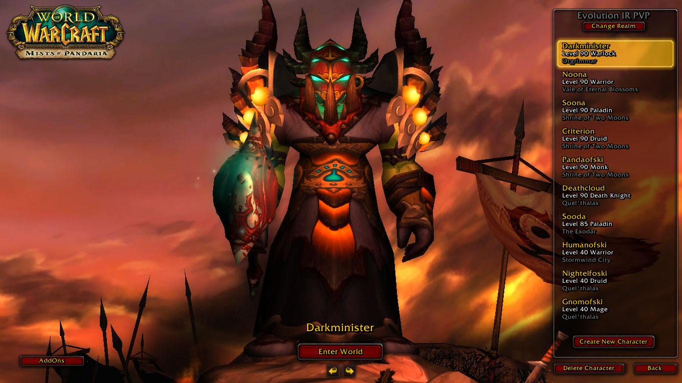 فروش هیرو warlock - Darkminister - سرور WowZone