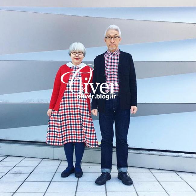 لباسپوشیدن جالب زوج ژاپنی