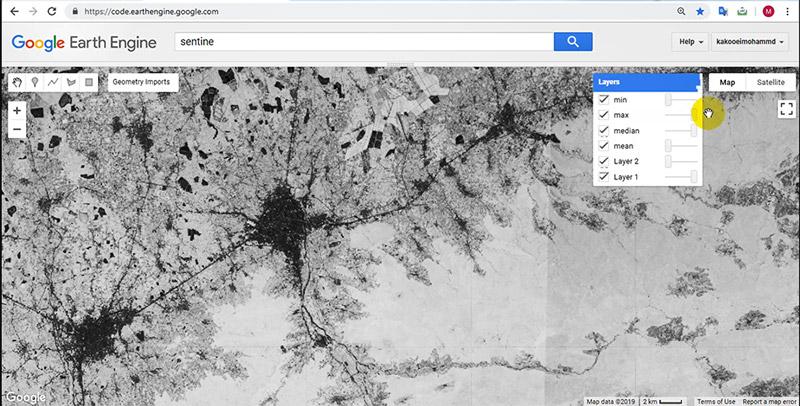 شاخص های گیاهی در گوگل ارث انجین