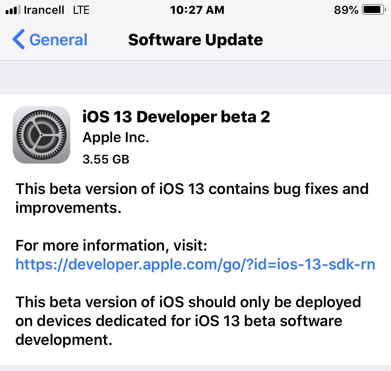 نصب IOS 13 از طریق خود گوشی با استفاده از پروفایل