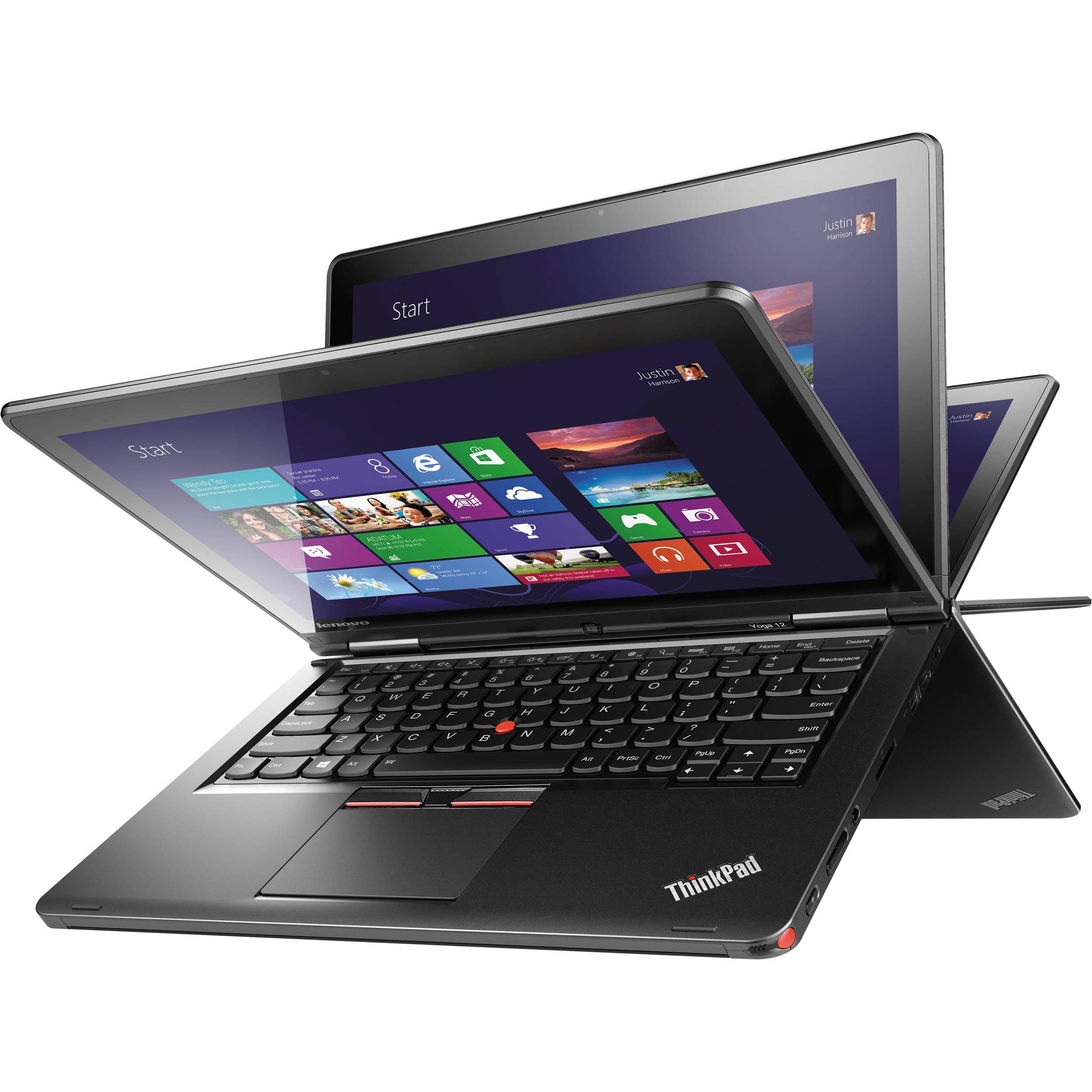 لپ تاپ استوک لنوو مدل Lenovo Yoga 12 با مشخصات i5-5gen-8GB-128GB-SSD-2GB-intel-HD-5500