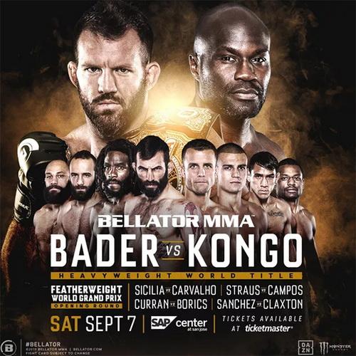 دانلود مسابقات بلاتور  226 |  Bellator 226: Bader vs. Kongo+تک مبارزه