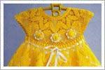 مدل سارافون قلاب بافی زرد