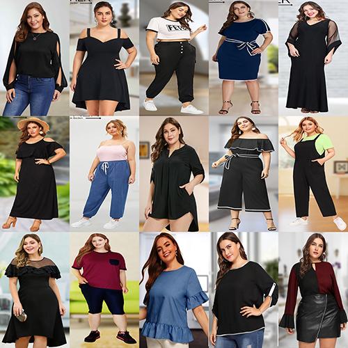 توليدي لباس زنانه سايز بزرگ برند MOHER در انواع مدل ها
