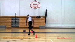 Dre Baldwin: Cone Shooting Drill - Double In & Out-Thru Legs Pullup Jumpshot Pt. 1 | NBA Drills