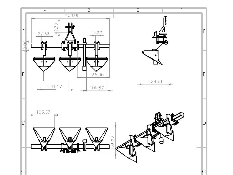 دانلود پروژه طراحی شده دستگاه نهرکن ( جوی و پشته ساز ) در نرم افزار سالیدورک و کتیا ( solidwork Catia ) | تلماتو