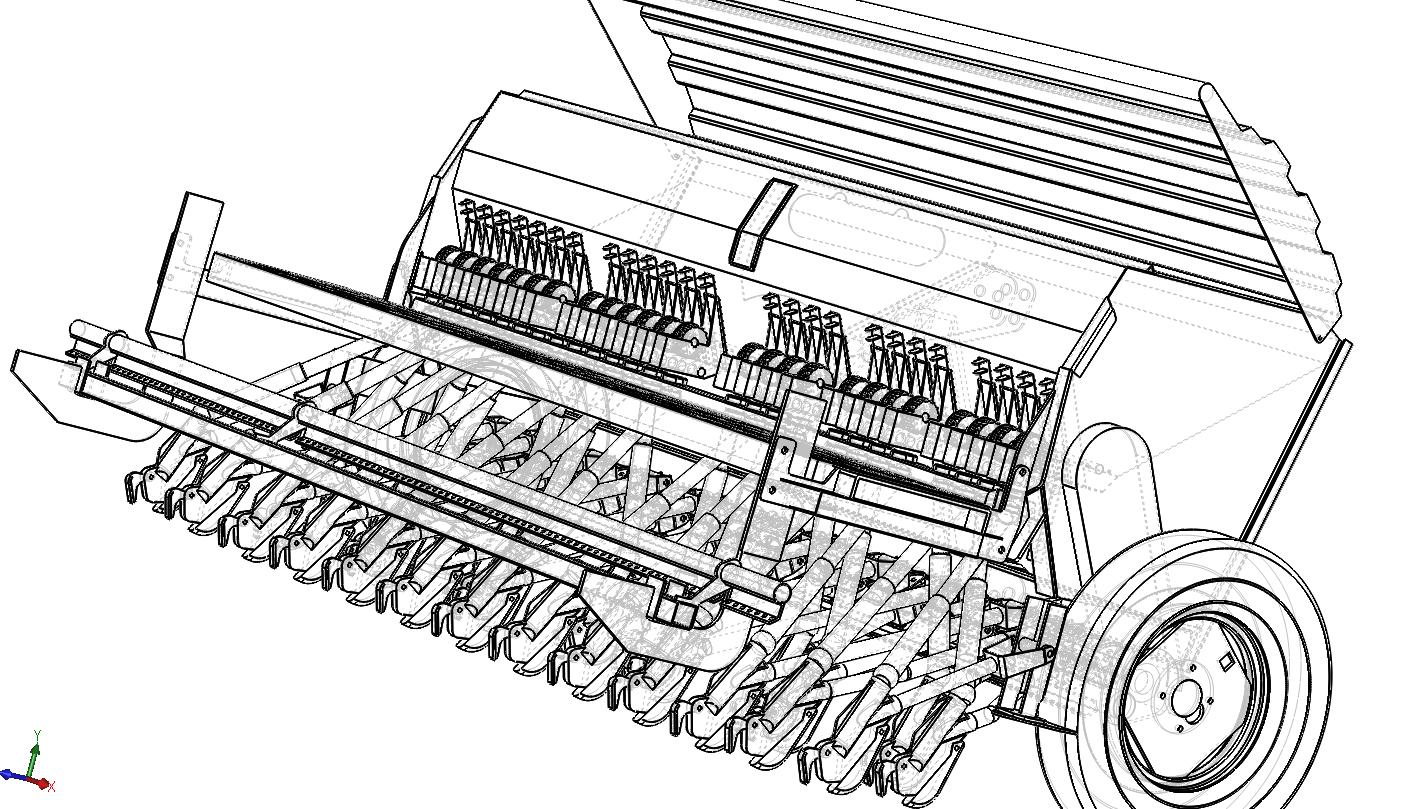 دانلود پروژه طراحی شده خطی کار 24 ردیفه در نزم افزار سالیدورک ( solidwork ) | تلماتو + فایل
