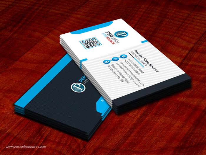 قالب آماده لایه باز کارت ویزیت | طرح شماره (۱)